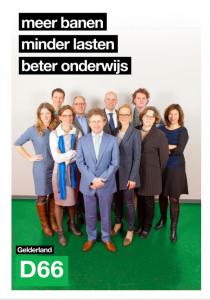 Voorblad verkiezingsprogramma D66 Gelderland